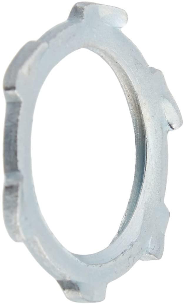 Halex 96191 Rigid Imc Conduit Locknut, 1/2 In, Steel, Zinc Plated