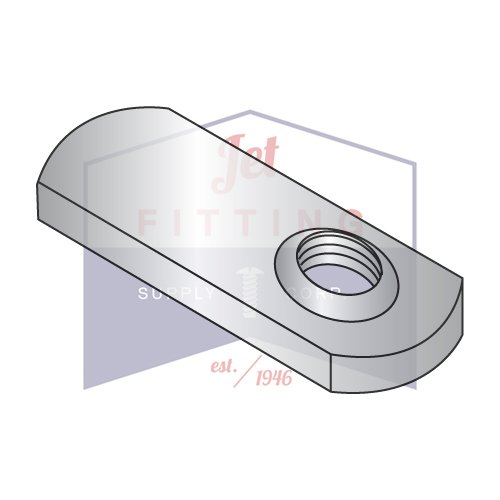 8-32 Offset Hole Tab Weld Nuts / No Projections / 18-8 Stainless Steel (QUANTITY: 1,000 pcs) Made in North America