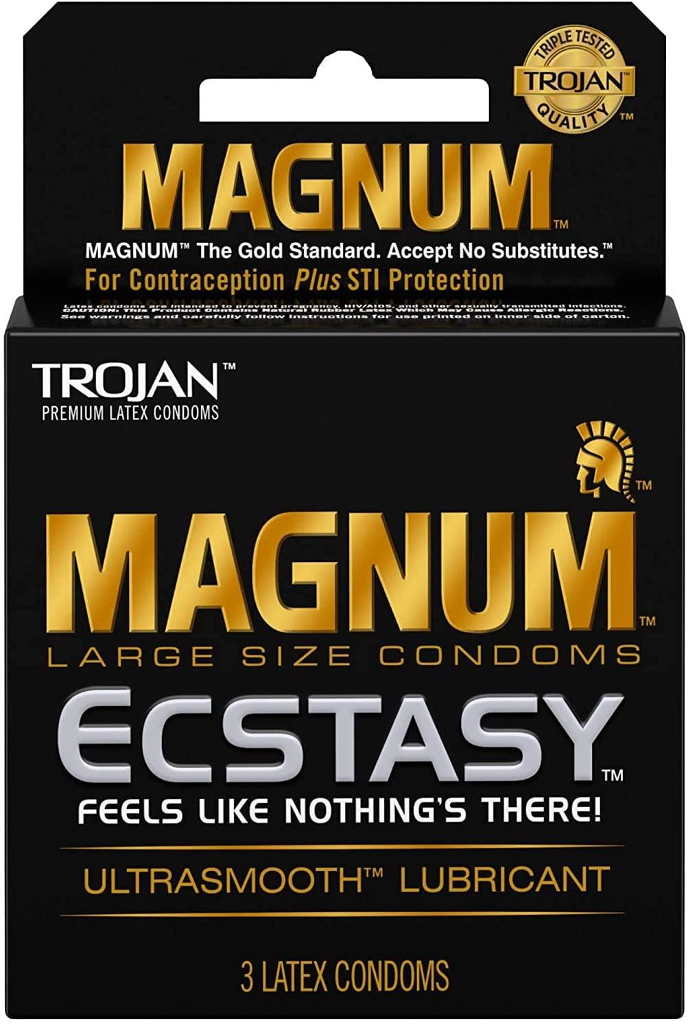 Trojan Magnum Ecstasy Condom, 3 Count (Pack of 6)