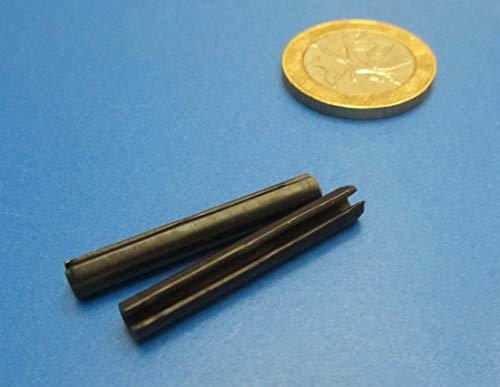 Metric Steel Slotted Spring Pins, M4 Diameter x 30 mm Length, 200 pcs.