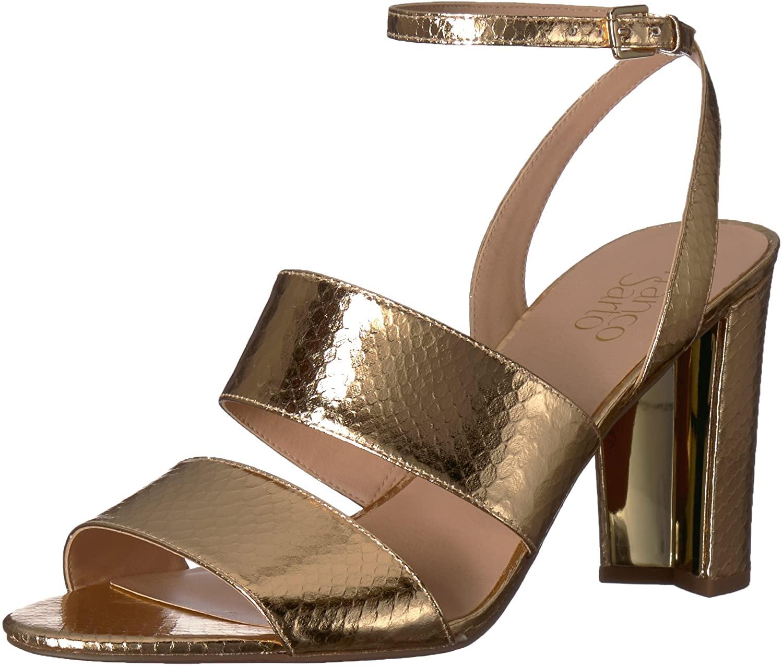 Franco Sarto Women's HANELI Heeled Sandal, Gold, 5 M US