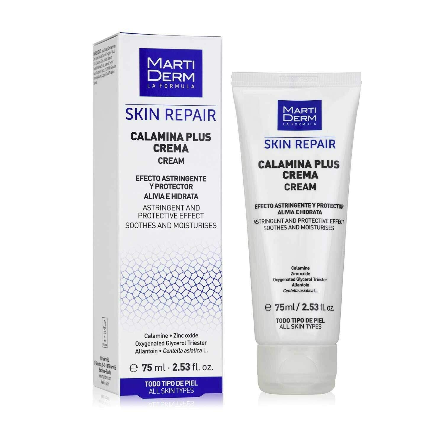 Martiderm Calamine Calamina Plus 75ml. Soothes The Skin. Activates Regeneration Gift For Treatment Your Skin