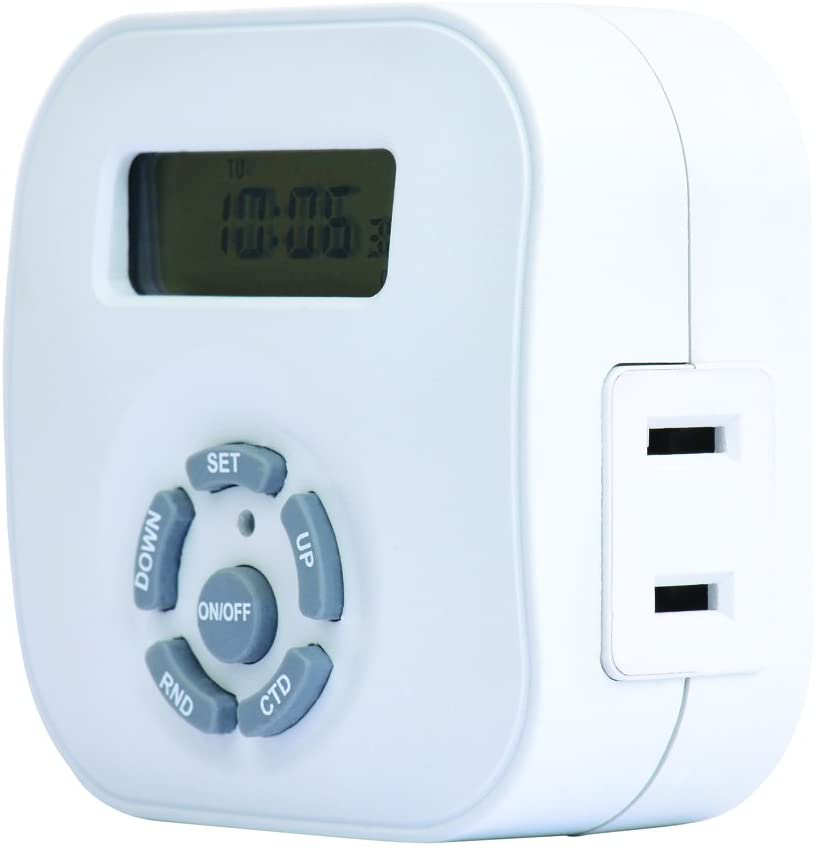 Westek TE1604WHB Weekly Digital Round Timer, Single Outlet, White
