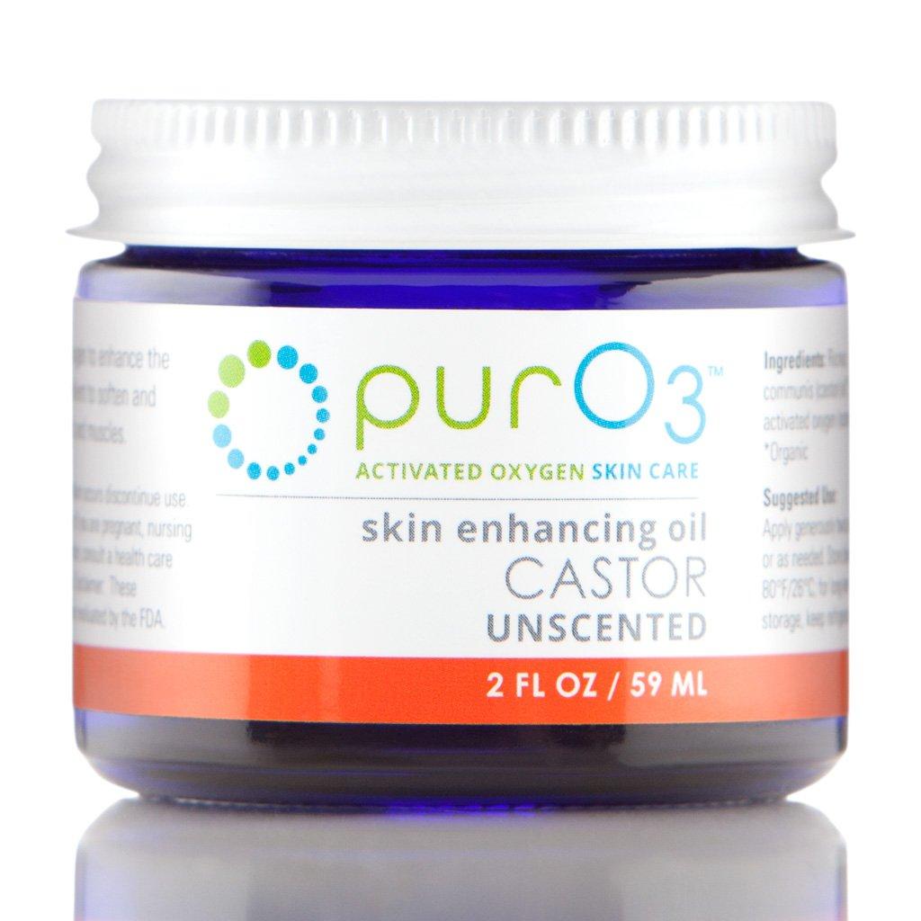 PurO3 Fully Ozonated Castor Oil - 2 oz - Glass Jars