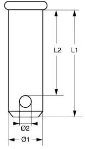 Lindemann SBB0648-2SB Pin Set of 2