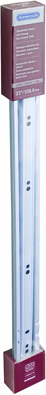 Amerock C17002NB22WS Series 17002 Self-Closing Drawer Slide, White, 22-Inch