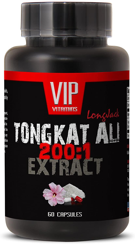Sexual Stamina Pills for Men - TONGKAT ALI Extract 200:1 400MG - LONGJACK - tongkat Complex - 1 Bottle 60 Capsules