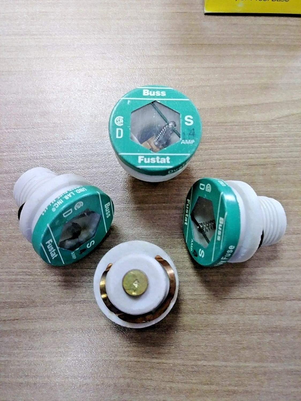 Cooper Bussmann BA8PBB-3P Fuse, Fustat Dual Element Plug S-4