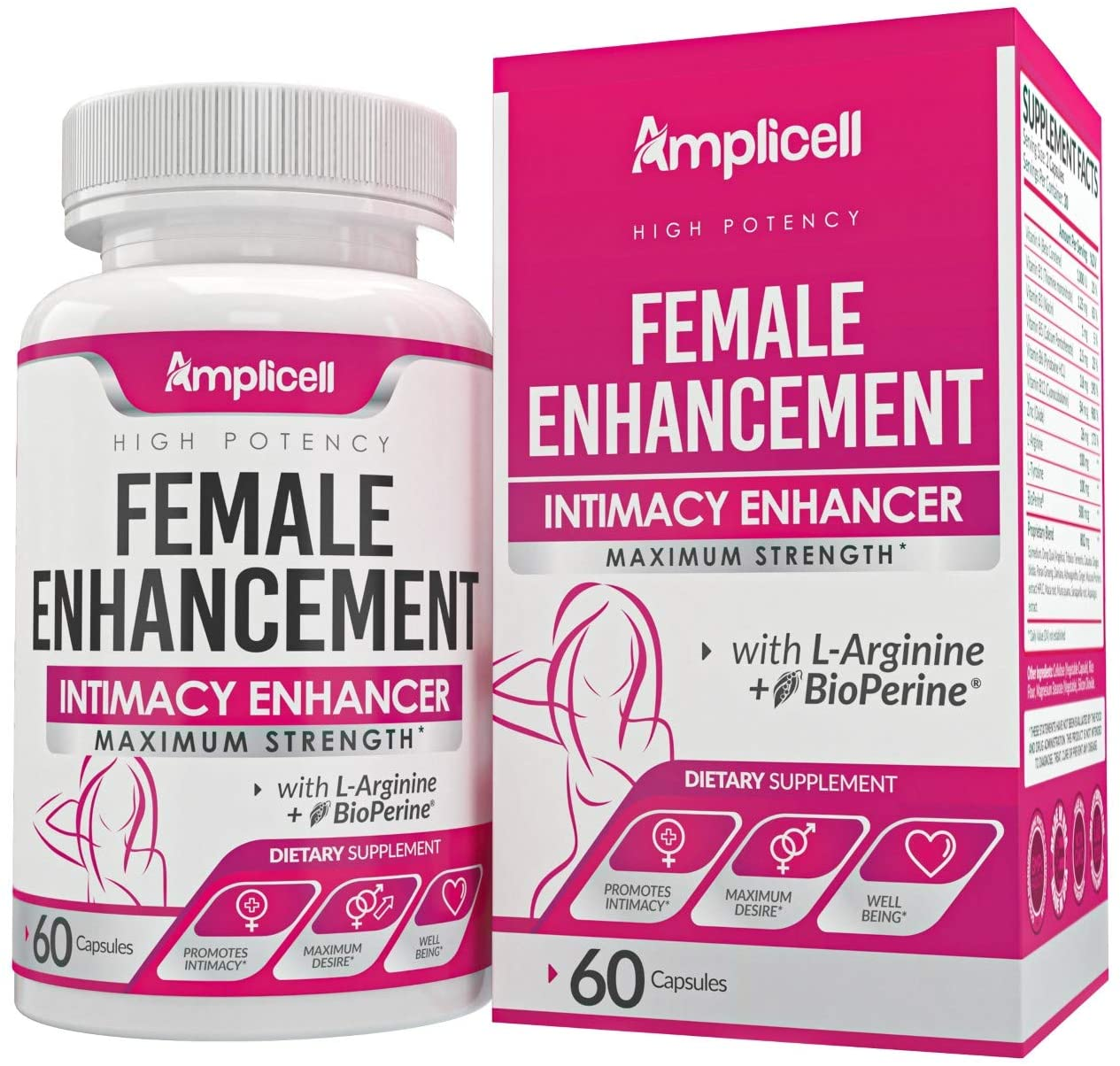 Female Enhancement (60caps) - Natural Female Pills with Dong Quai, Ginseng & Maca Root