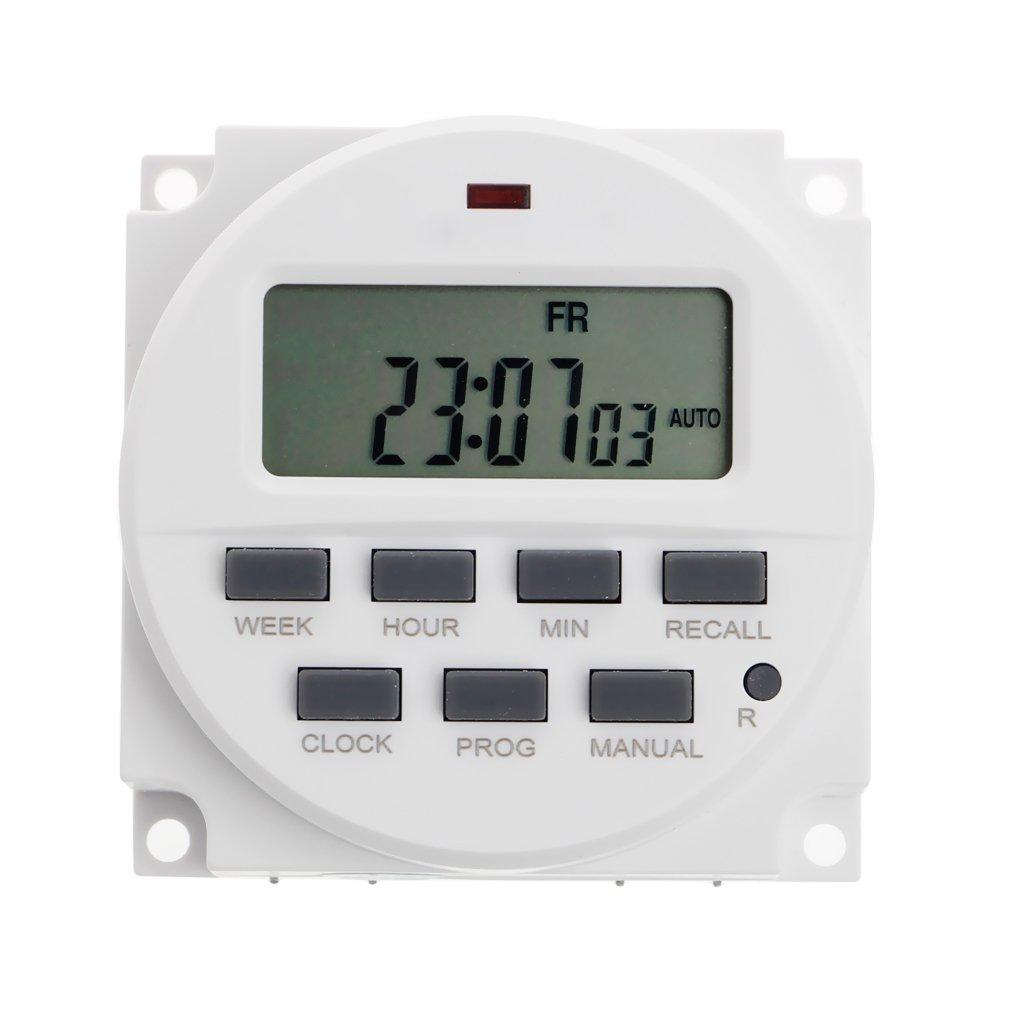 Sara-u 15.98 Inch LCD Digital Timer 12V DC 7 Days Programmable Time Switch TM618N-4