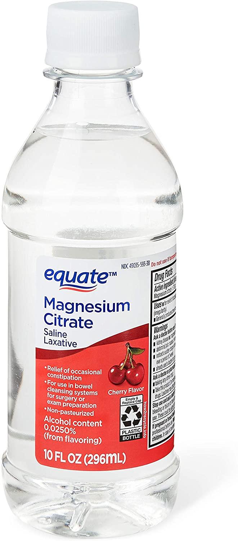 Evaxo Magnesium Citrate, Cherry, 10 fl oz .Pack of 3.