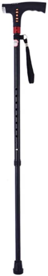 LIBWX Walking Stick, Four-Legged Anti-Slip Crutches Elderly Disabled Telescopic Sticks Adjustable Elderly Crutches Nursing Home Hospital Elderly Disabled