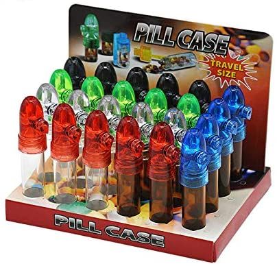 Wholesale Glass Snuff Bullet Rocket Snorter Snuff Dispenser (Middle)