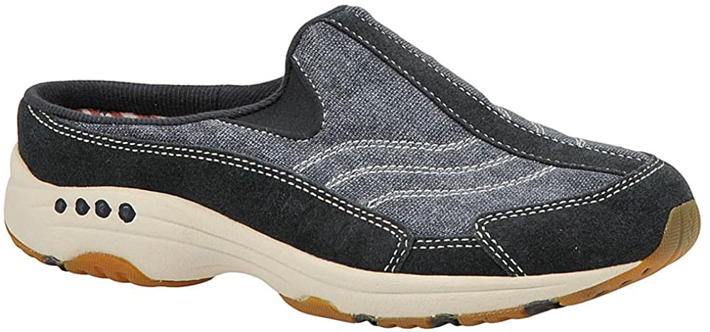 Easy Spirit Womens Travel Time 60 Suede Slip On Walking Shoes