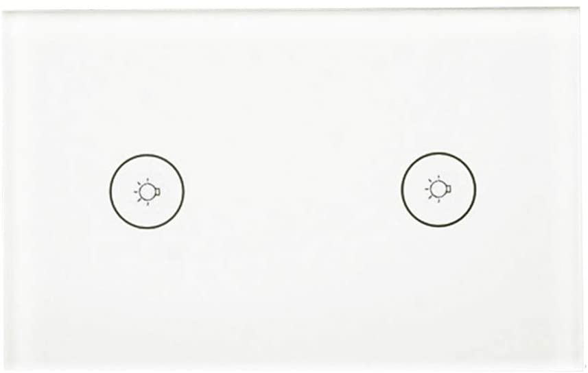 AKDSteel WiFi Smart Wall Touch Panel Switch Support for Ale-xa/Go-ogleHome/IFT-TT Voice Control System US Regulation