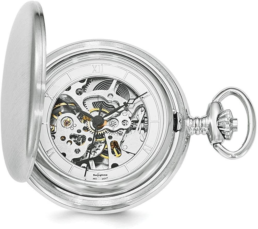 Sonia Jewels Swingtime Chrome-Finish Brass Mechanical 42mm Pocket Watch 14