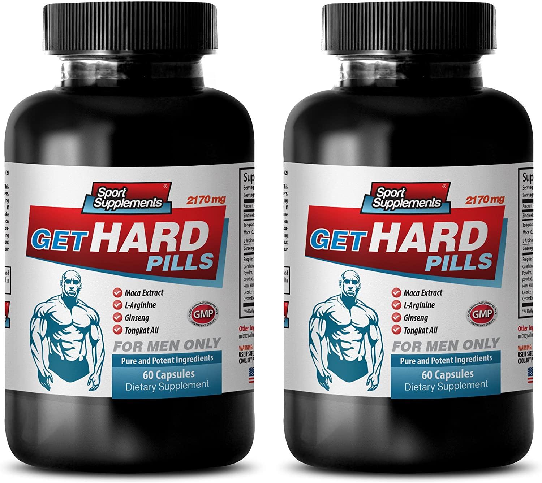libido and Testosterone - GET Hard Pills - longjack bulksupplements - 2 Bottle (120 Capsules)