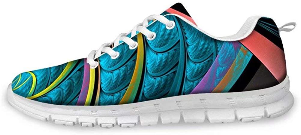 Dellukee Women's Fashion Sneakers Breathable Lightweight Stylish Walking Work Shoes