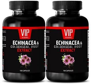 antiaging Capsules - Echinacea & Goldenseal Root 300MG - Immune Care - 2 Bottles (200 Capsules)