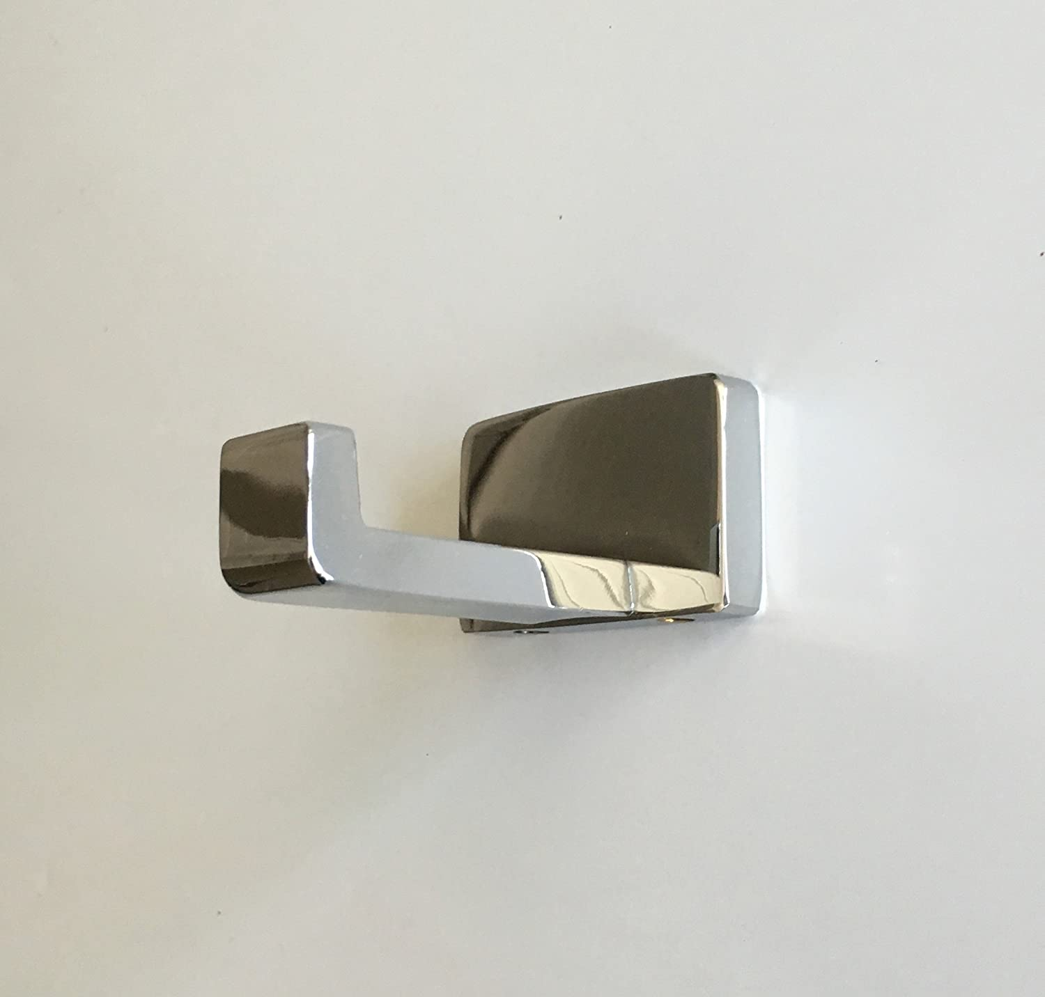 Modern Hardware High Polished Chrome Solid Brass Single Towel Robe Hat Hook Bathroom Kitchen Heavy Duty Wall Mount RH