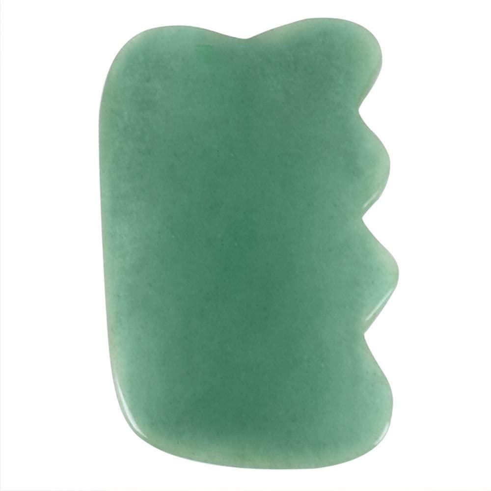 MUOBOFU Jade Guasha Stone,Wing-Shape Guasha Skin Beauty Treatment for Wrinkle,Puffiness,Acne & Dark Spots,Anti-Aging Wrinkle Under Eye Puffiness Dark Circle Bag Tool