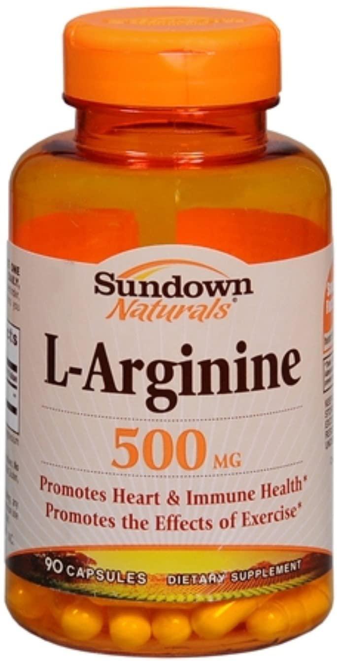 Sundown L-Arginine 500 mg Capsules 90 ea (Pack of 5)