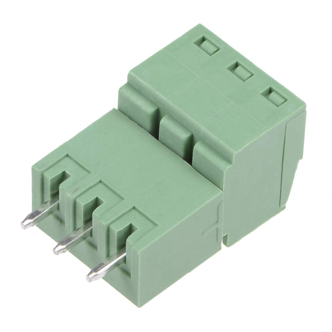 uxcell 5 Pairs 3.5mm Pitch 3Pin Pluggable Terminal Block Connector Male and Female for PCB