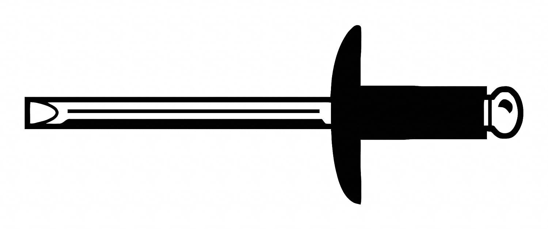Blind Rivet, 3/16In, 1.063In, Flange, PK250