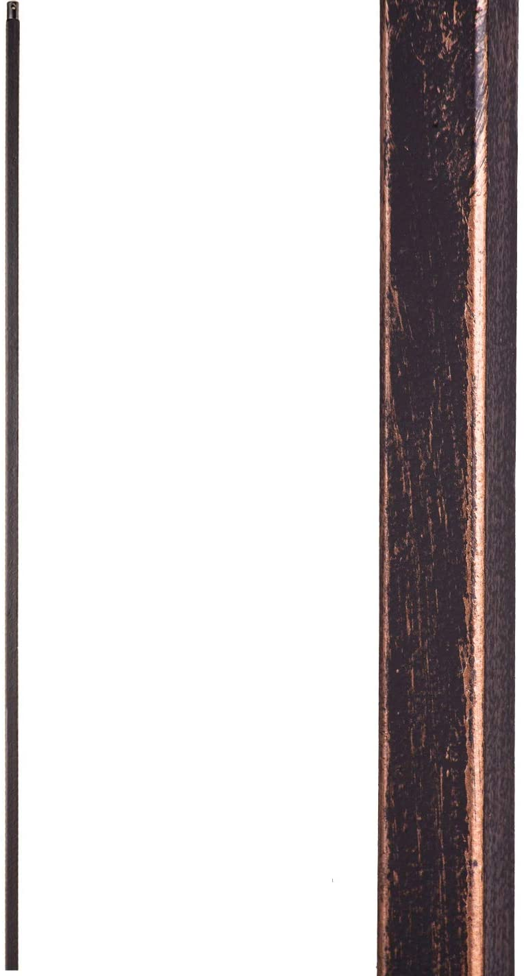 Oil Rubbed Bronze 16.2.1-T Plain Straight Bar Hollow Iron Baluster for Staircase Remodel, Box of 5