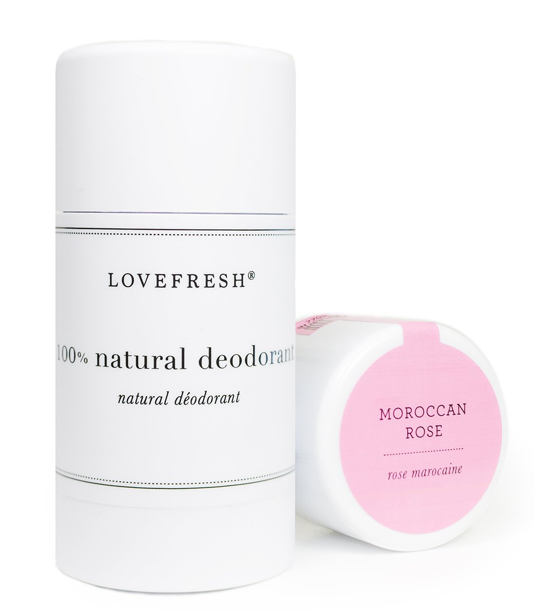 Lovefresh - All Natural Deodorant | Aluminum Free (Moroccan Rose) (3.7 oz)