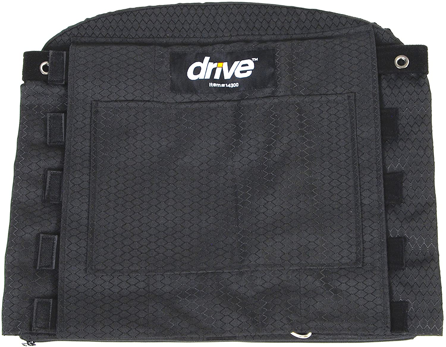 Drive Medical Adjustable Tension Back Cushions, Black, 16 21 Wheelchairs