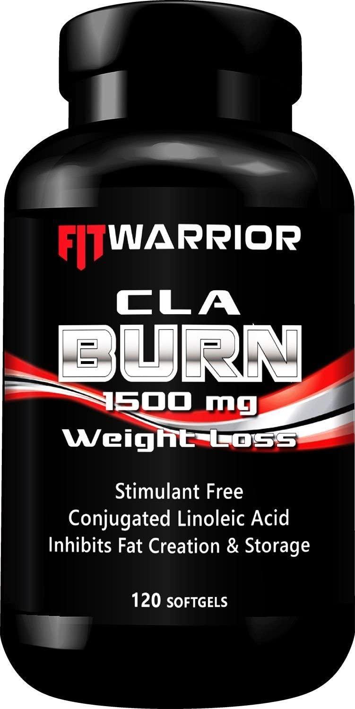 CLA Fat Burn [120 Softgels] 1500mg Conjugated Linoleic Acid Body Fat Burner, Stimulant Free Weight Loss