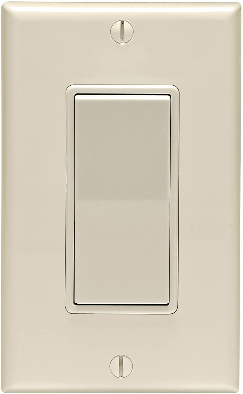 LEVITON MFG CO C36-05672-02T 15A LA SP SWITCH/PLATE