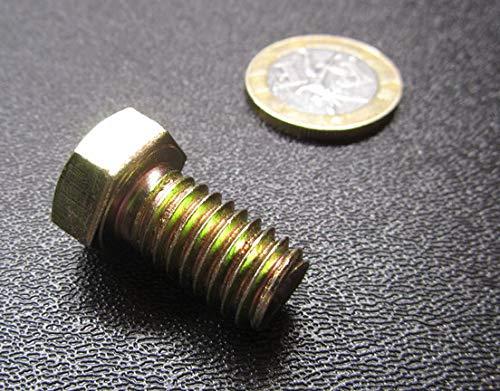 Grade 8 Zinc Yellow Chromate Plated Steel Bolts, RH, Fully Threaded, 7/16