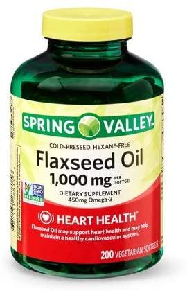 Evaxo Flaxseed Oil, 1000 mg, 200 Vegetarian Softgels 3 pk. /