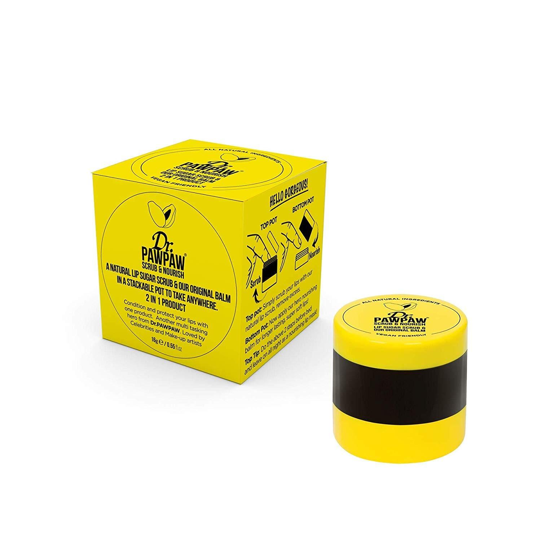 Dr. PAWPAW - Scrub & Nourish Duo Pot | 2 In 1 Lip Sugar Scrub & Balm | Gentle Exfoliation & Lip Moisturizer (15g)