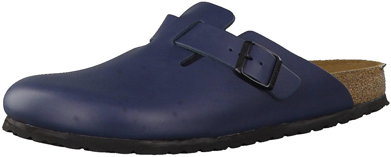 Birkenstock womens Boston in blue from Leather Clogs 36.0 EU N
