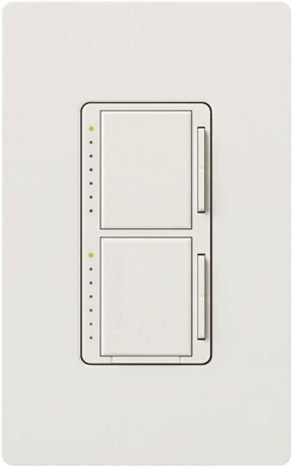 Lutron MA-L3L3HW-WH Maestro 300-watt Single Pole Dual Dimmer, White