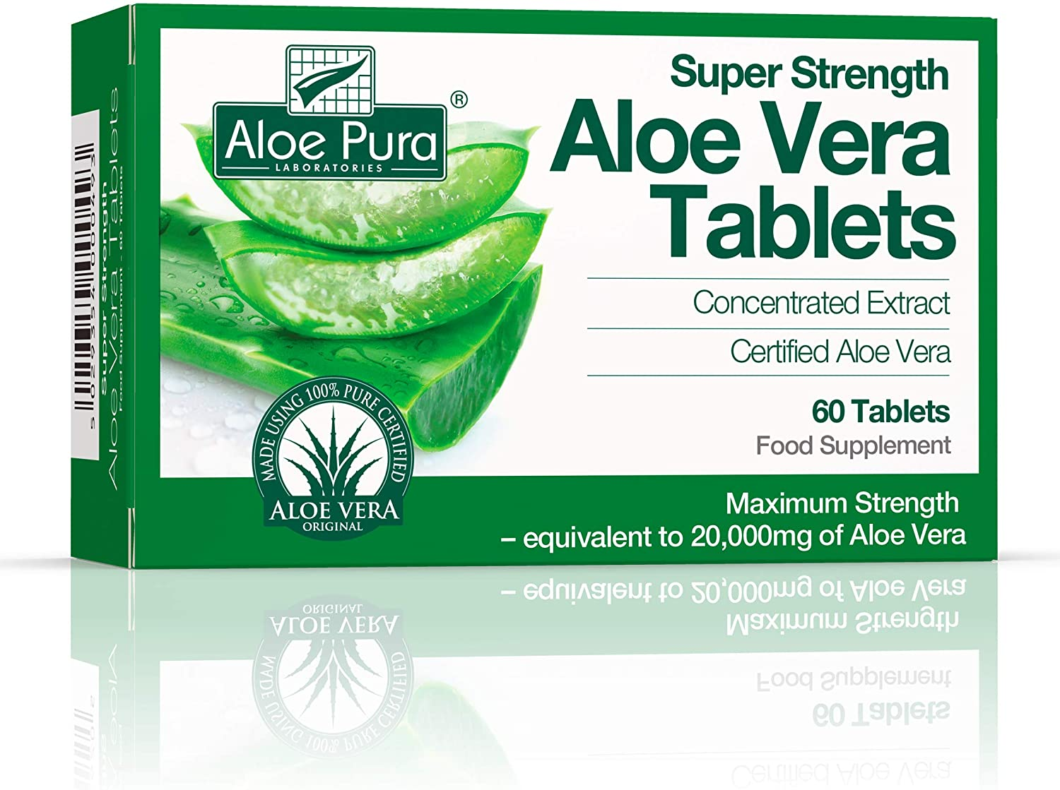 The Healthy Option Super Strength Aloe Vera 60 Tablets