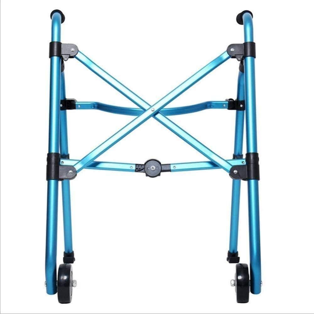 HTLLT Walking Aid Medical Instruments Lightweight Front Wheel Walker Roller Walker Folding Walking Frames Height Adjustable Standard Walker for Seniors Adult Elderly