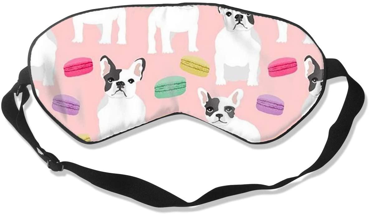 Sleep Eye Mask For Men Women,French Bulldog Art Digital Soft Comfort Eye Shade Cover For Sleeping