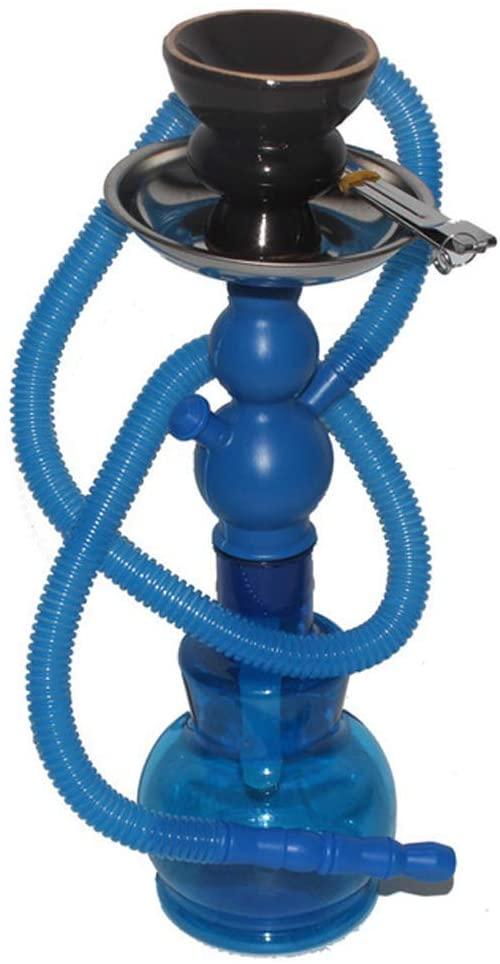 HEWEI Creative Hookah Shisha Set Portable Mini Hookah Suitable for Family Bars Clubs Blue