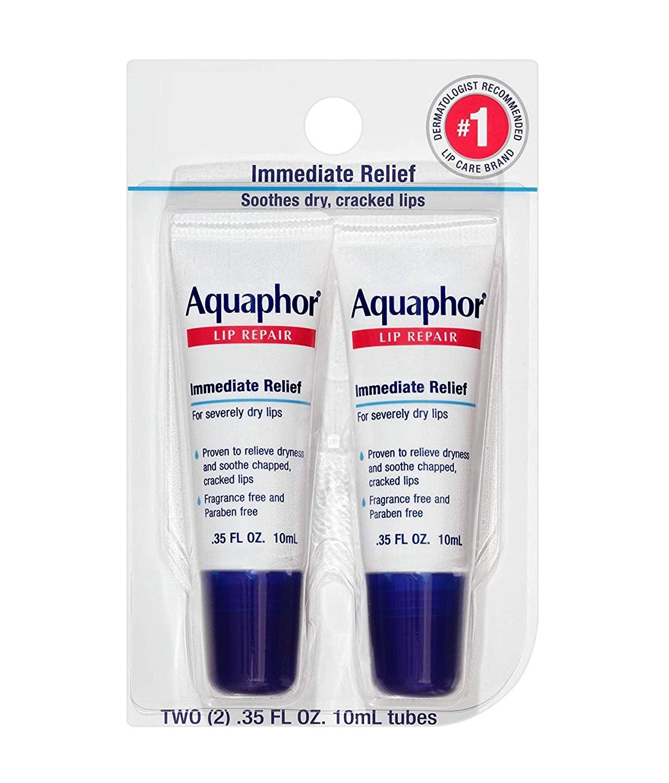 Aquaphor Lip Repair Tube Blister Card Dual Pack, 0.35 Ounce