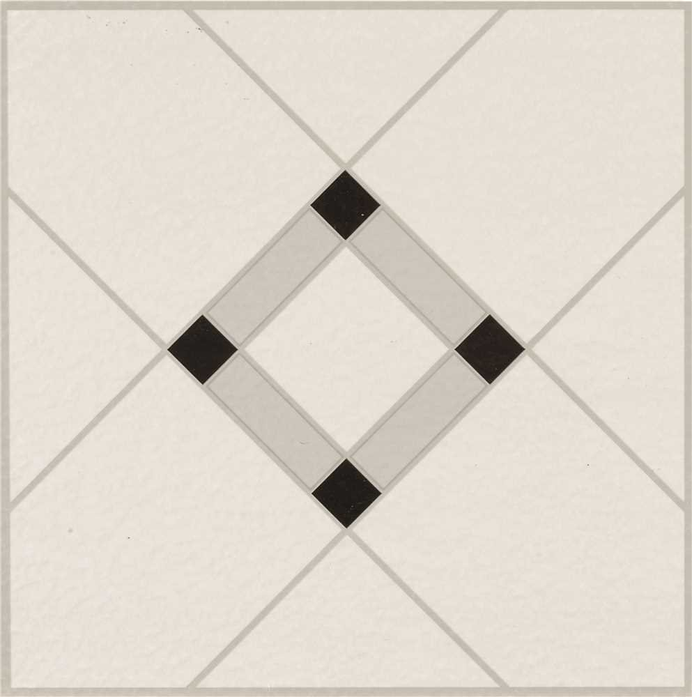 Armstrong World Industries 25280 Lattice Lane Units Residential No-Wax Self-Stick Vinyl Floor Tile, Black/White