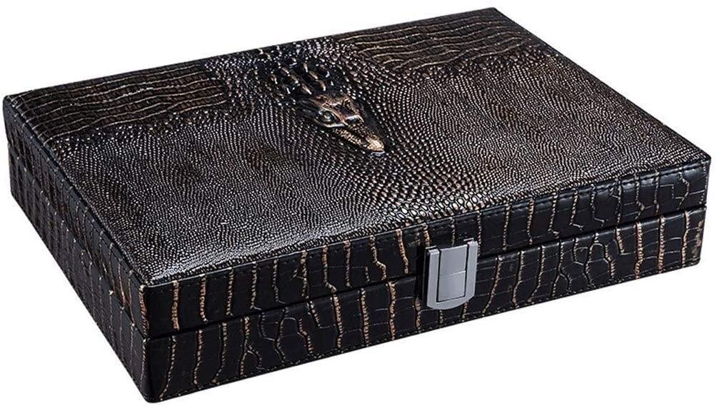 SCDHZP Wooden Cigar Box, Vintage Cigarette Box Mini Portable Humidor Cigar Box Wooden Cigarette Container Storage Case