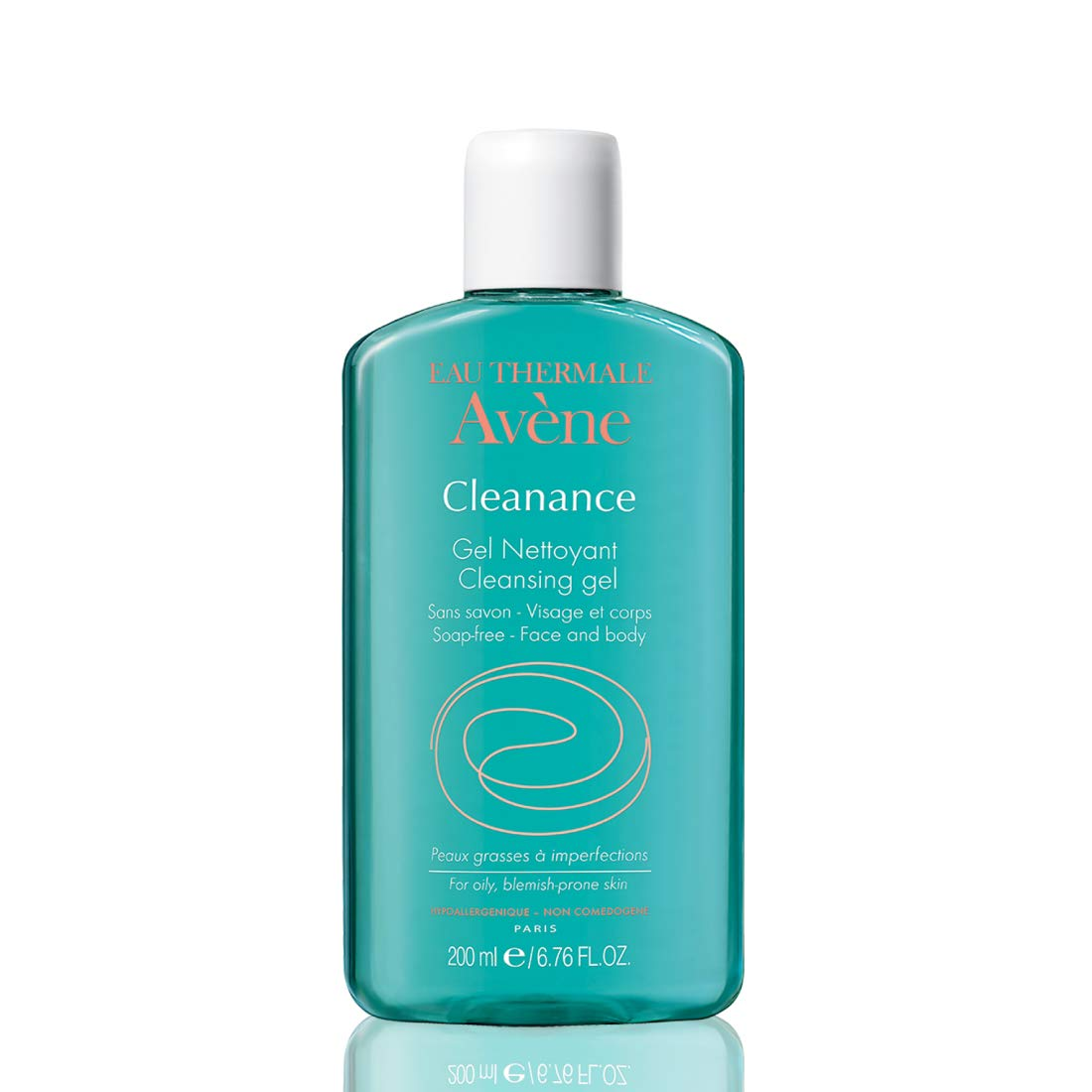Eau Thermale Avene Cleanance Cleansing Gel Soap Free Cleanser for Acne Prone, Oily, Face & Body