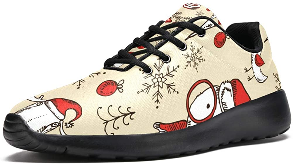 imobaby Sport Running Shoes for Women Christmas Hat Deer Bear Bird Fashion Sneakers Mesh Breathable Walking Hiking Tennis Shoe