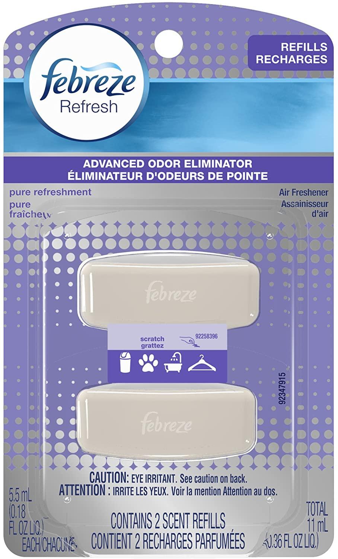 Febreze Refresh Pure Refreshment Air Freshener Refills Twin Pack, 0.36 Ounce