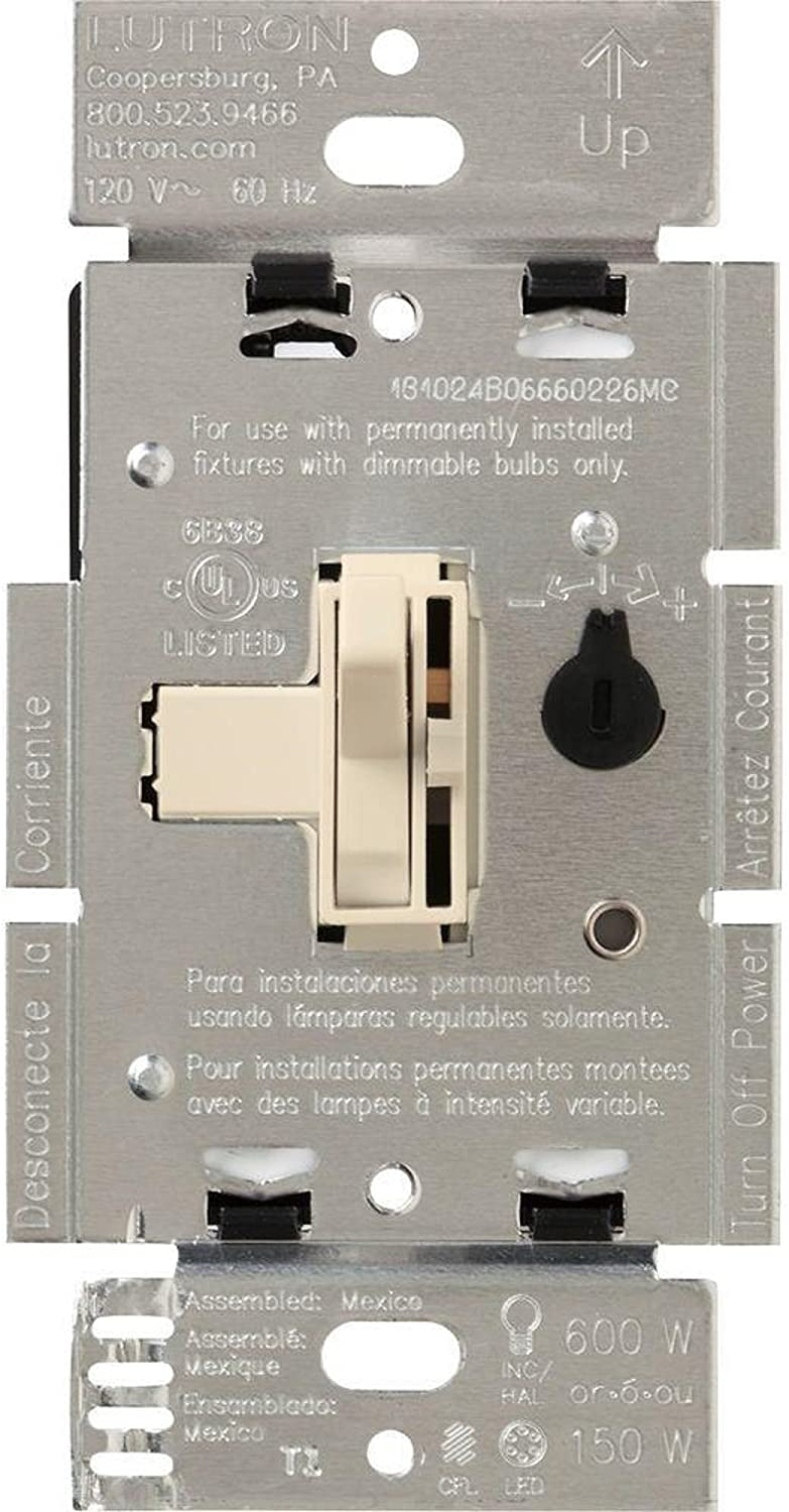 Lutron Dimmer Single Pole Single Pole Or 3 Way On/Off Light Almond Carded