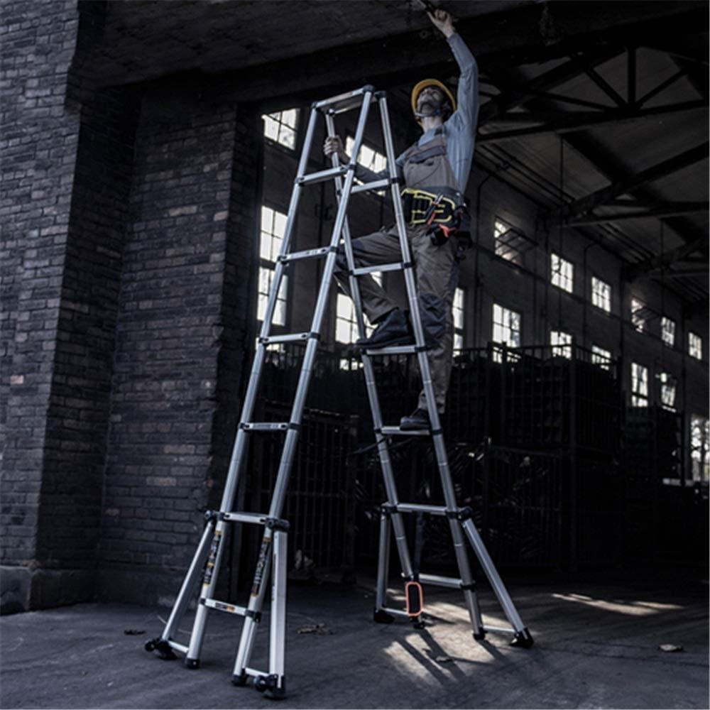 LADDERS Ladders Multi-Purpose Telescopic Luminium Durable Telescoping Luminum Telescopic Extension Portable (Color :, Size : 3.5M)